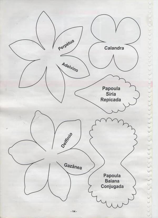 Moldes diversos para flores de EVA Foto de Pausa Criativa Artesanatos Suculentas De Papel, Foami Mo