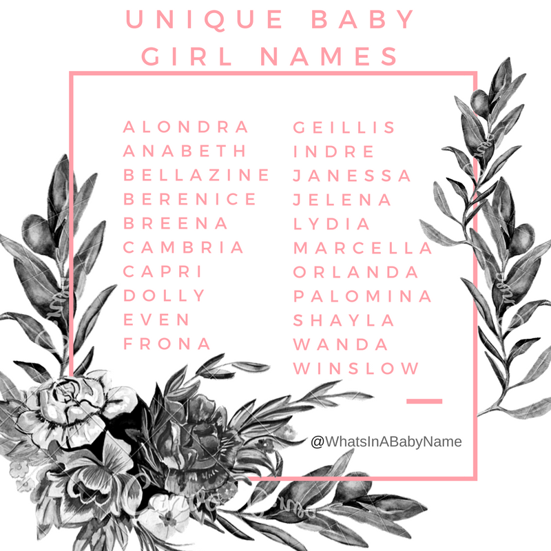 Unique And Uncommon But Beautiful Baby Names For Girls