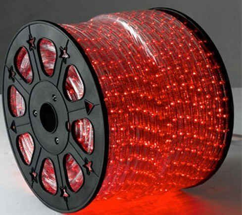 Red Led Rope Lights Auto Home Christmas Lighting 6 5 Feet By Rope