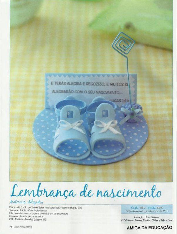 Lembrancinhas de nascimento com moldes