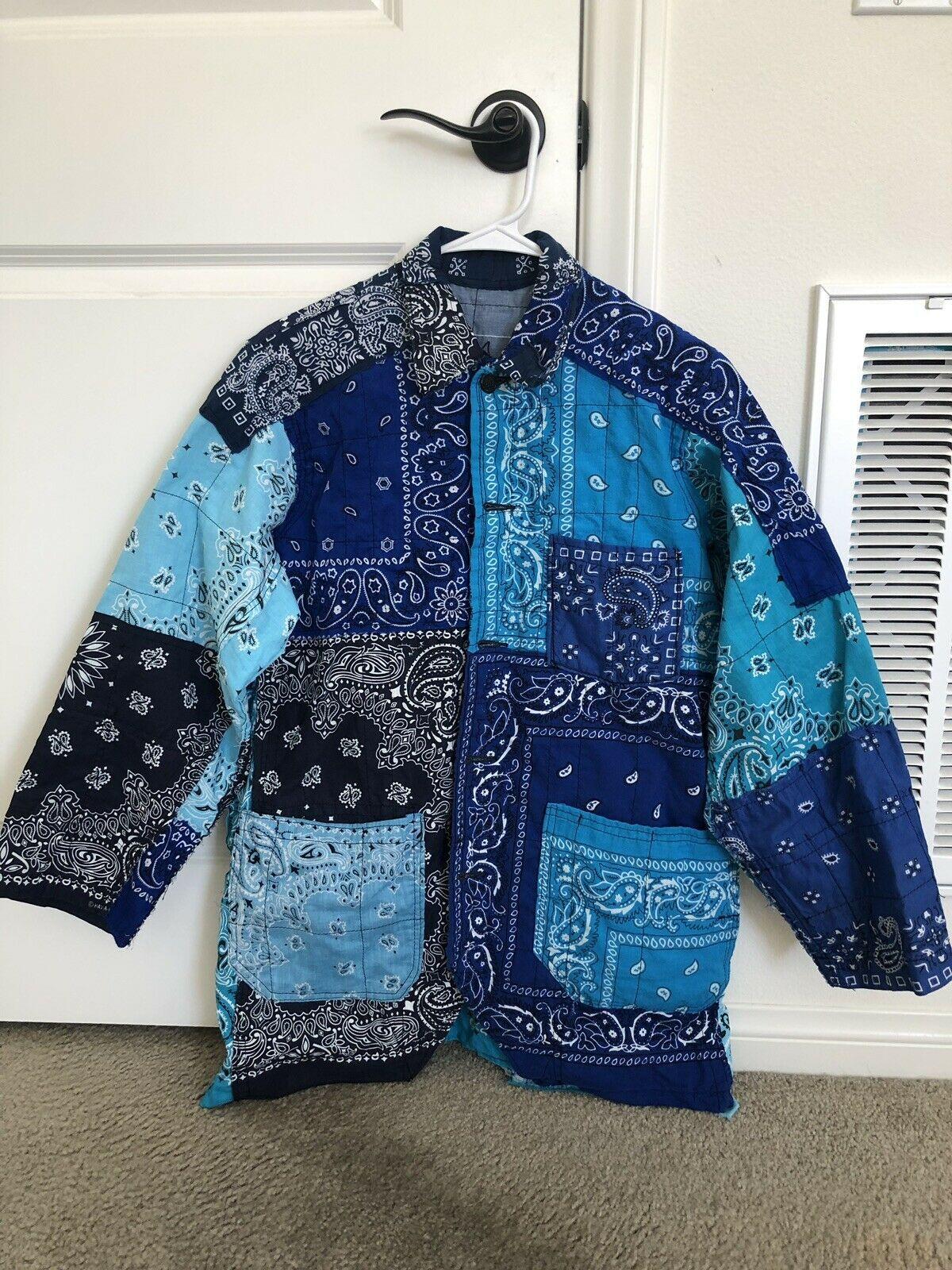 Bandana Patchwork Jacket Bonum Japan Kapital Visvim Kanye Yeezy Sz Large Ebay In 2020 Patchwork Jacket Kanye Yeezy Fashion