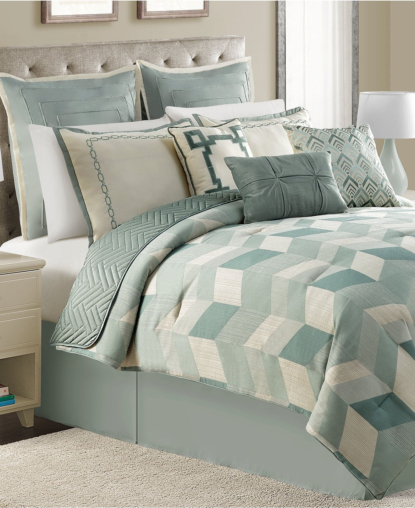 Brighton 10 Piece Queen Comforter Set - Bed in a Bag - Bed ...