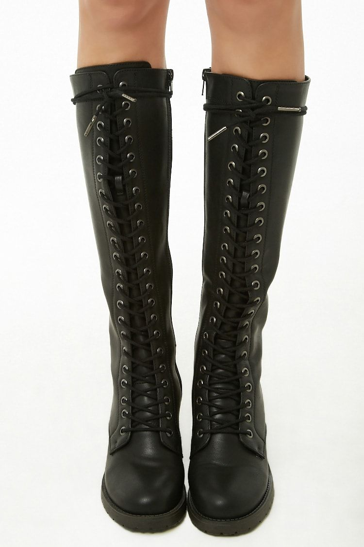 Madden Girl Knee-High Combat Boots