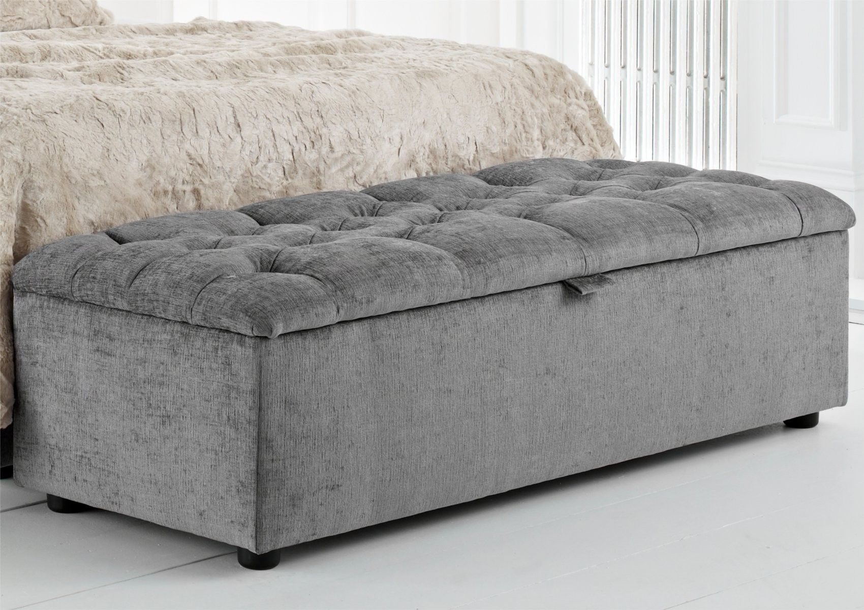 Space At A Premium Or Just Want Something To Sit On At The Foot Of The Bed Our Ascot Tufted Blanket Box Maybe A Use Blanket Box Ottoman Furniture Bedding Shop