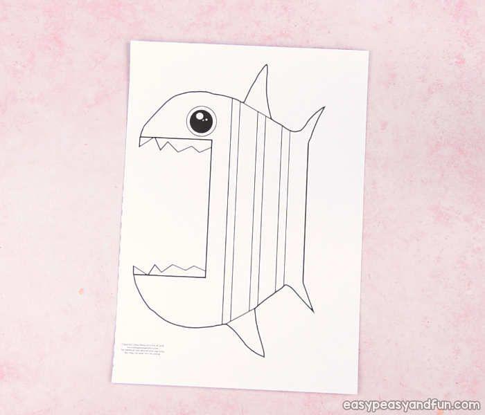 Surprise Big Mouth Fish Printable Cajas sensoriales