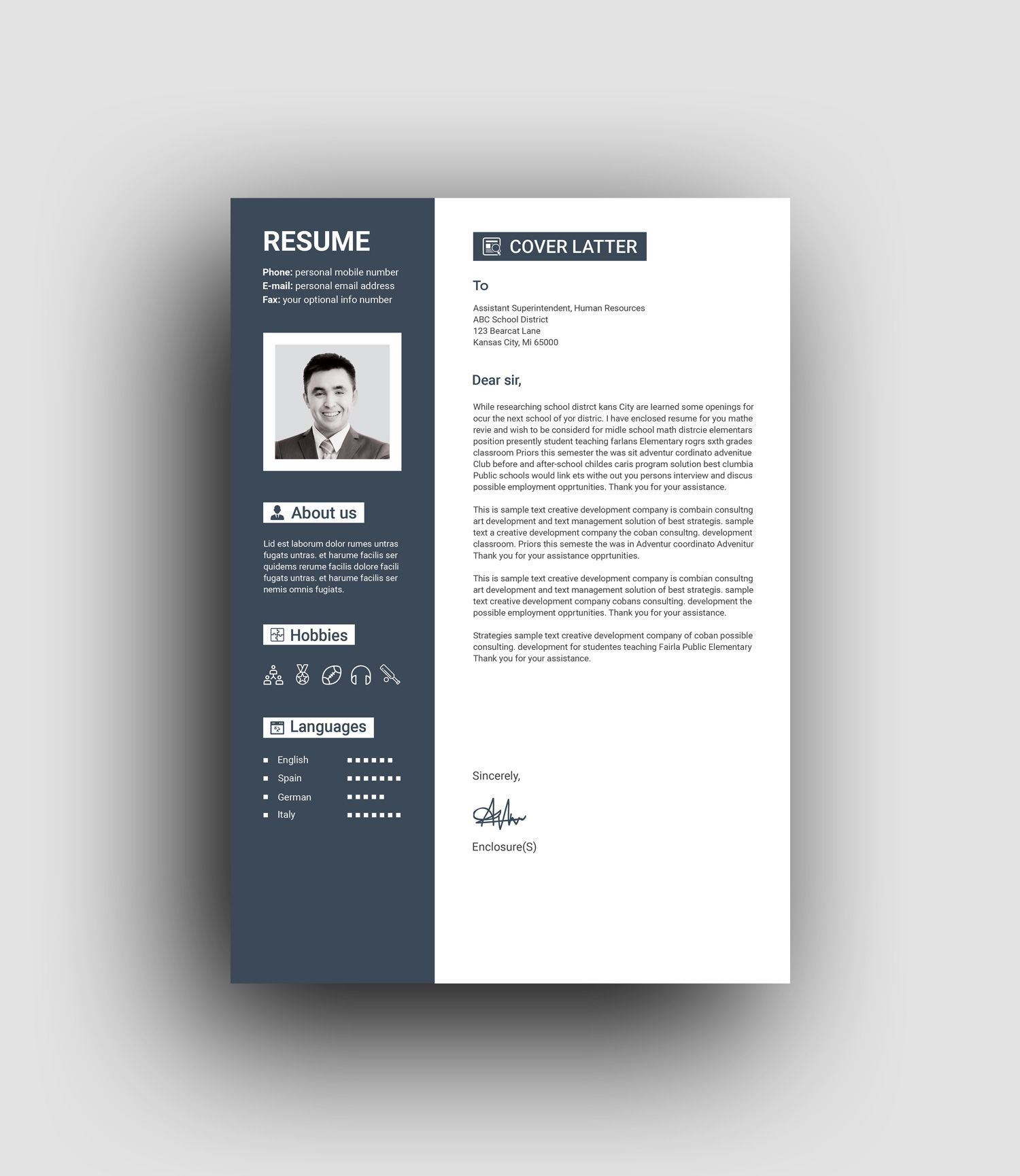Resume template professional Resume template Resume