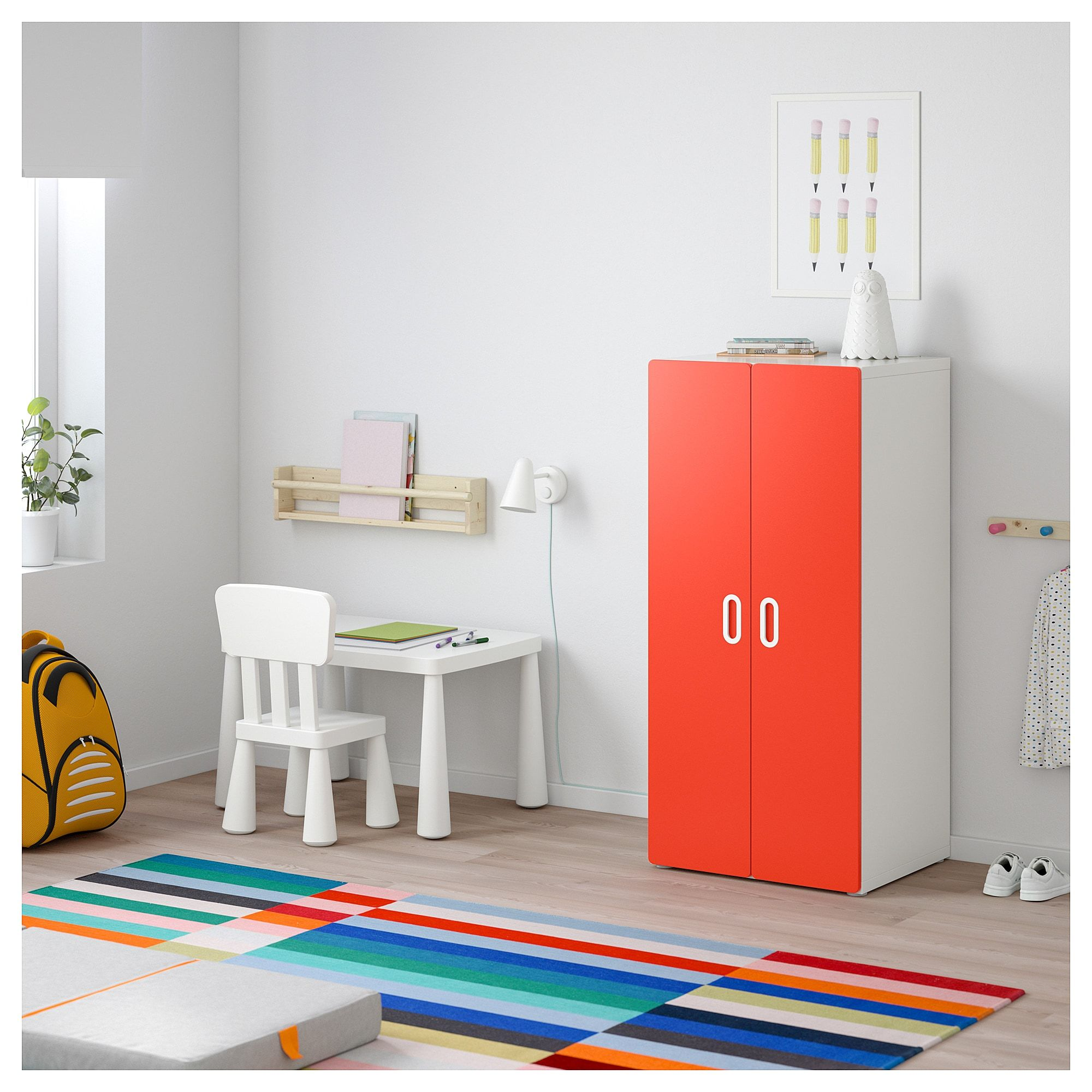 Stuva Fritids Kleiderschrank Weiss Rot In 2019 Products