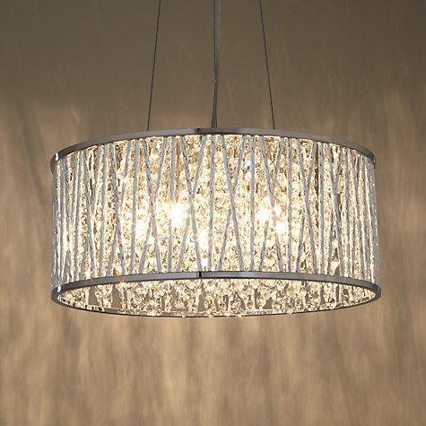 John Lewis Partners Emilia Large Crystal Ceiling Light Chrome Crystal Ceiling Light Bedroom Ceiling Light Crystal Pendant Lighting