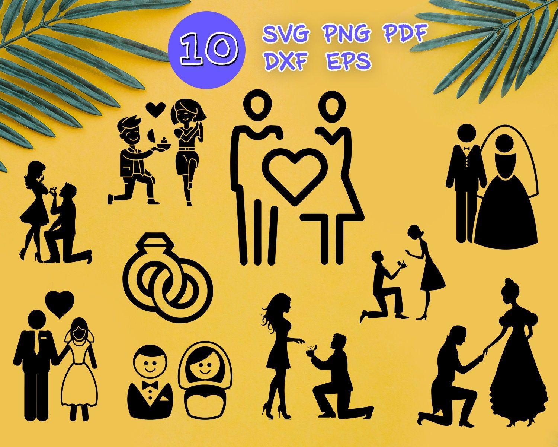 Download ENGAGED COUPLE SVG, engagement svg, wedding svg, love svg ...