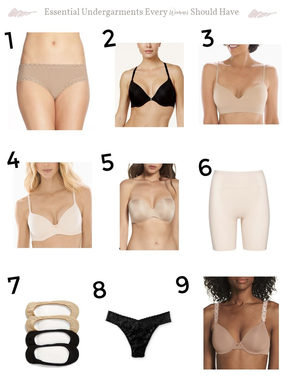 8346121c10 Essential Undergarments Every Woman Should Have. This is what you should  wear under your clothes. by Cyndispivey.com  essentialundergarments   bestunderwear ...