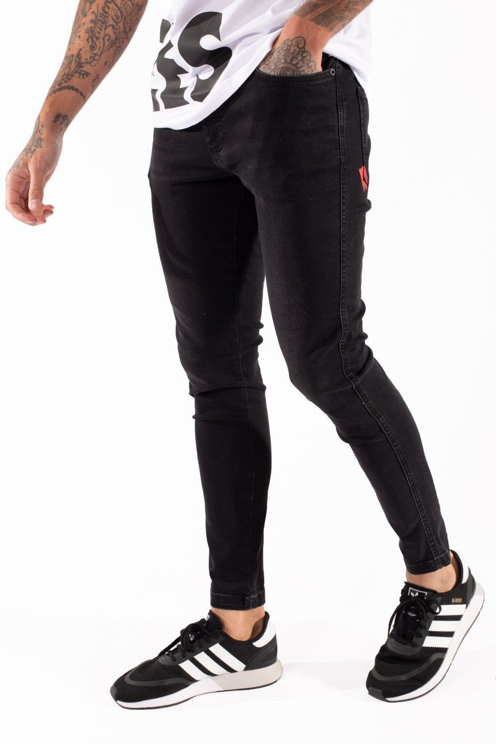 Stretch Jeans Skinny Fit Washed Black Super Stretch Jeans Skinny Fit Stretch Jeans