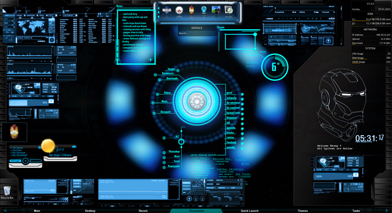 Google jarvis theme