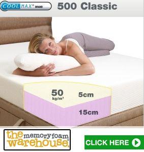 Single CoolMax 500 Classic Memory Foam Mattress - Memory Foam Expert