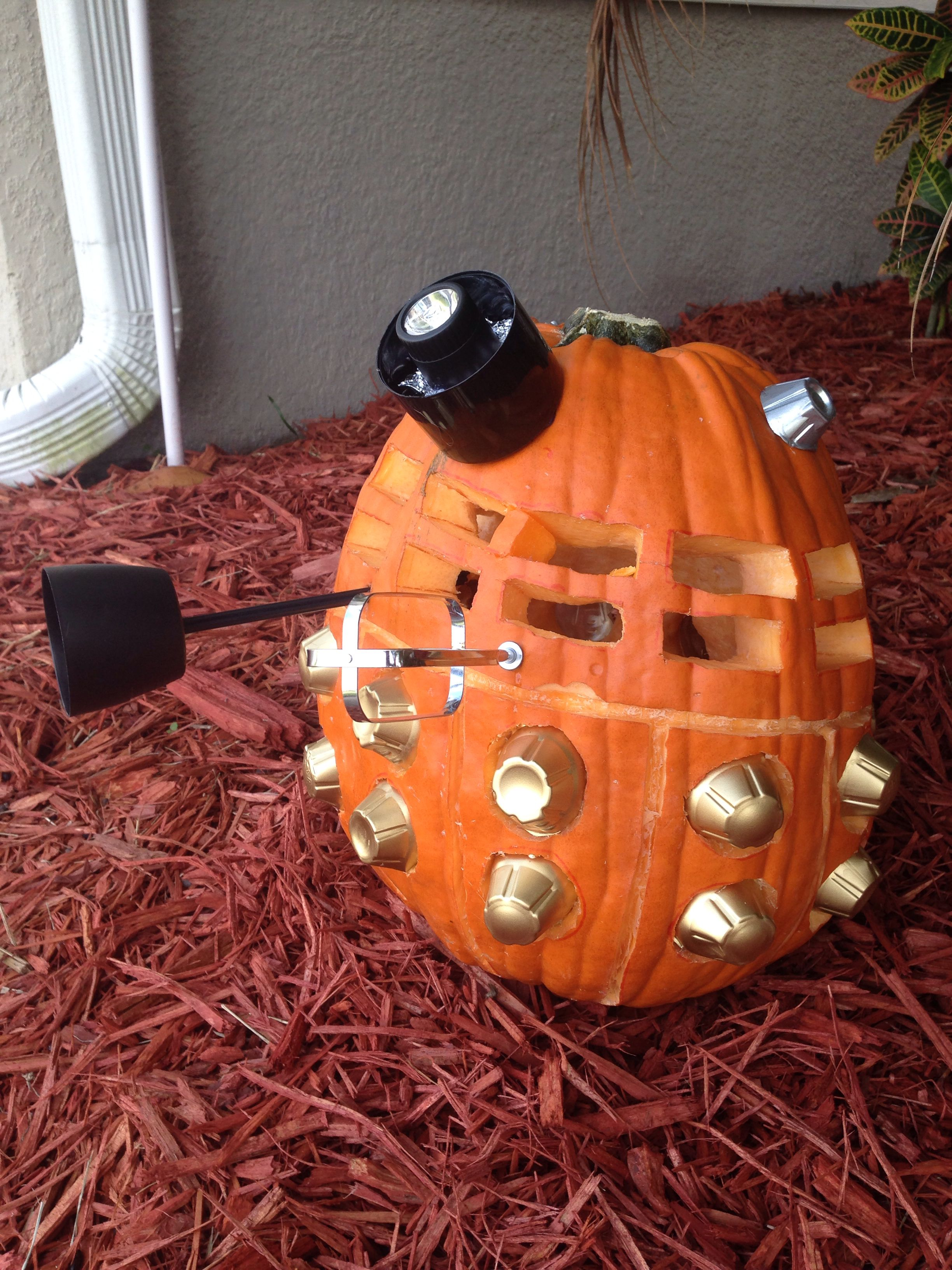 My Dalek pumpkin this year ) Halloween costumes