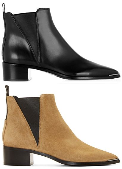 Acne Studios Jensen Ankle Boots in black and beige