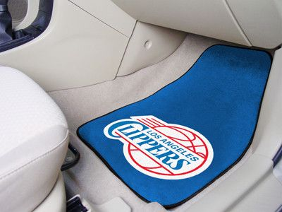 "NBA - Los Angeles Clippers 2-piece Carpeted Car Mats 18""""x27"""""