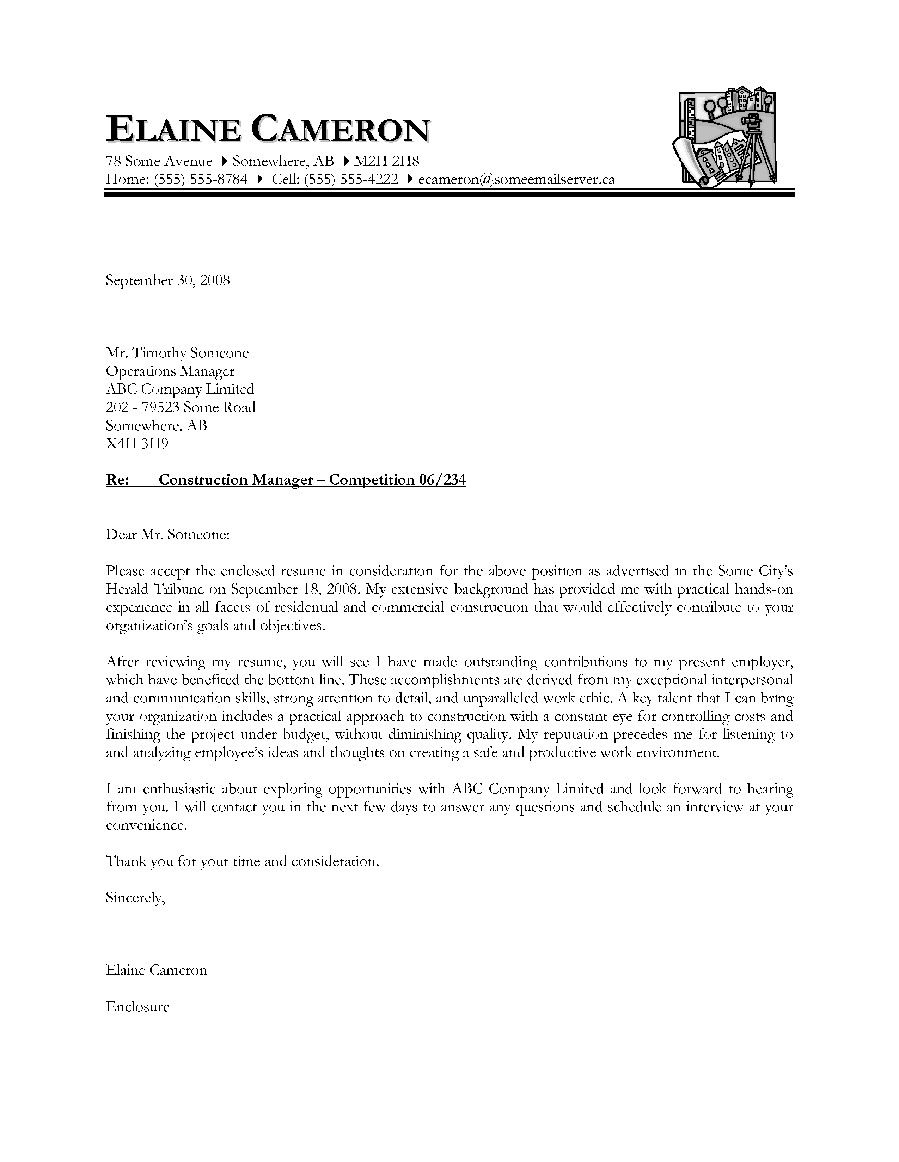 letter examples canada cover templates inside solicited resume ...