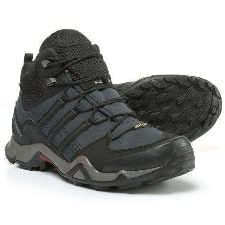 ed639705784 adidas Terrex Swift R Gore-Tex® XCR® Mid Hiking Boots - Waterproof (For Men)  in Dark Grey Black Granite  hikingbootsmens  hikingitems