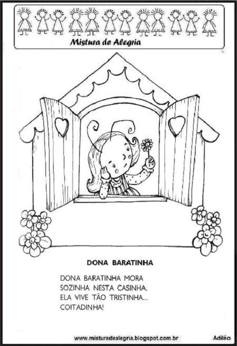 Top LIVRO DA HISTÓRIA DE D. BARATINHA, PARA IMPRIMIR E COLORIR-Mistura  ZG28