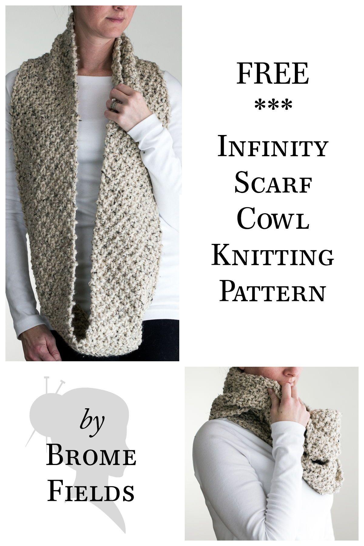 Free Scarf Cowl Knitting Pattern Knit Scarf Shawl Patterns