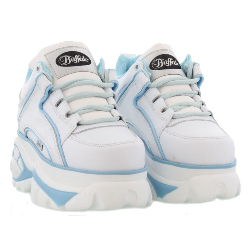 14503d62b547 Buffalo Boots Womens 1339-14 White Blue - £89.99 Buffalo Shoes
