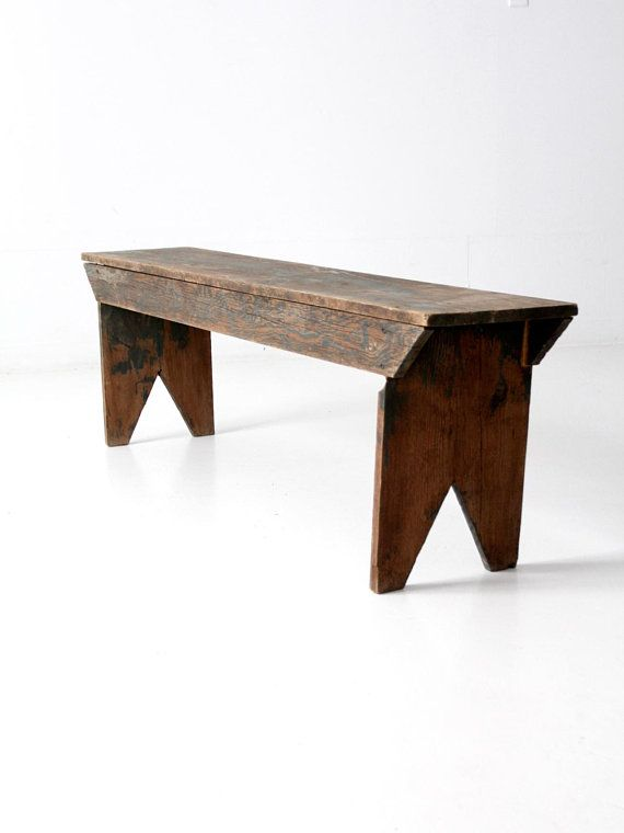 Antique Wooden Bench Long Farmhouse Bench In 2019 Wooden