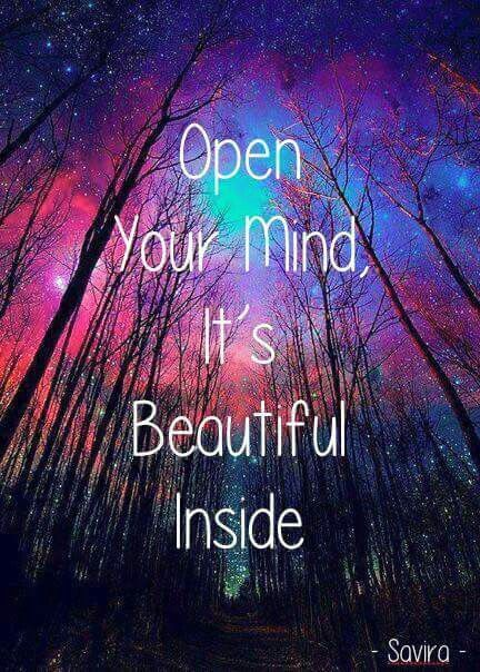 Open Your Mind It S Beautiful Inside Wiccan Quotes Manifestation Quotes Magical Quotes