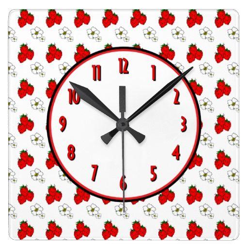 ErdbeerBlumen-Retro Küchen-Wand-Uhr Große Wanduhr Clock faces - küchen wanduhren design