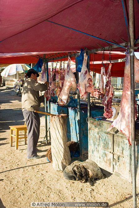 Butcher in Upal, Xinjiang, China