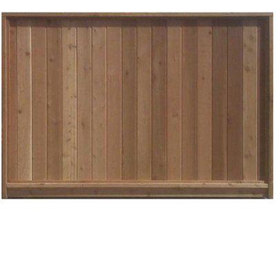 6-ft x 8-ft Regular Flat-Top Cedar Fence Panel - 6-ft X 8-ft Regular Flat-Top Cedar Fence Panel 2014 Vision Board