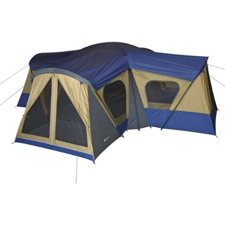Ozark Trail 14-Person 4-Room Base C& Tent  sc 1 st  Pinterest & Ozark Trail 14-Person 4-Room Base Camp Tent | Ozark trail Tents ...