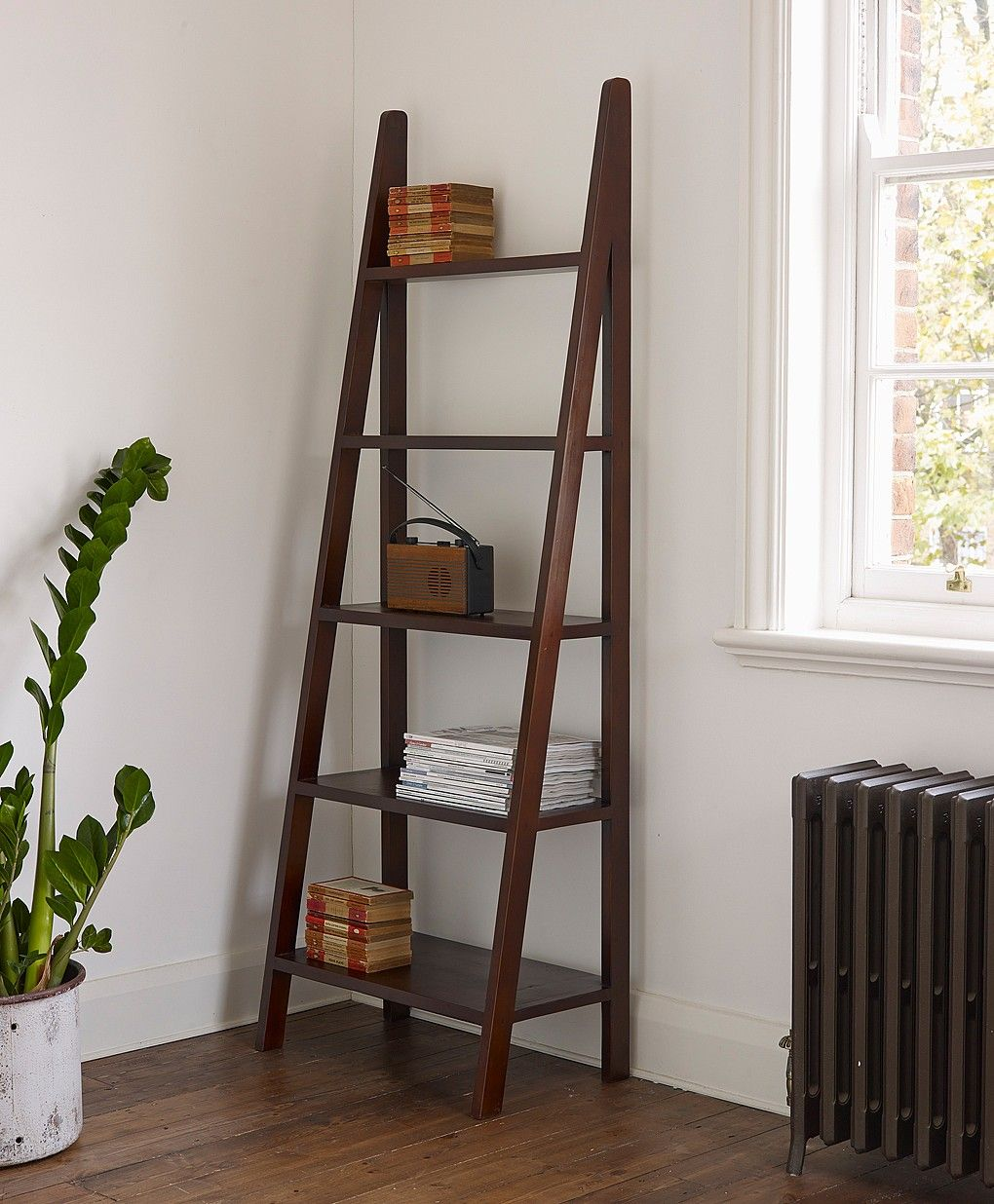 Nice Ladder Bookshelves With Ladder Bookcase As Functional As It Is  Beautiful Our Malang Ladder