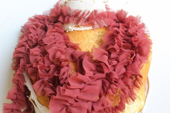 Cute  ruffled  chiffon  trim   2 yards listing by paviapavia, $2.95