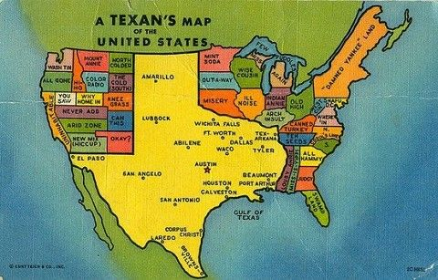 Map Of Texas Usa.When I Was Four I Thought That The Map Of The United States In The