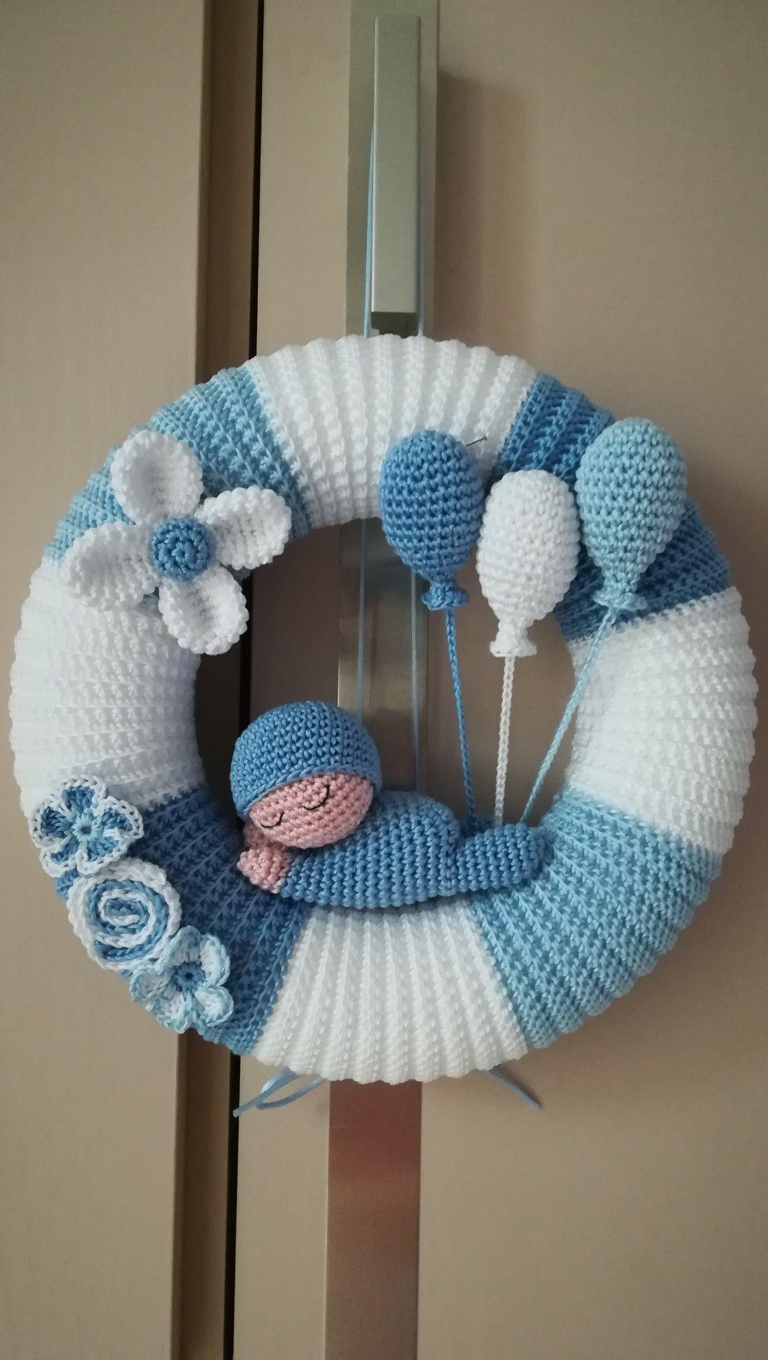 Fiocco Nascita Crochet Bimbo Baby Amigurimi Colors Uncinetto
