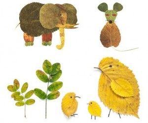 bricolage pour enfants s amuser avec les feuilles d. Black Bedroom Furniture Sets. Home Design Ideas