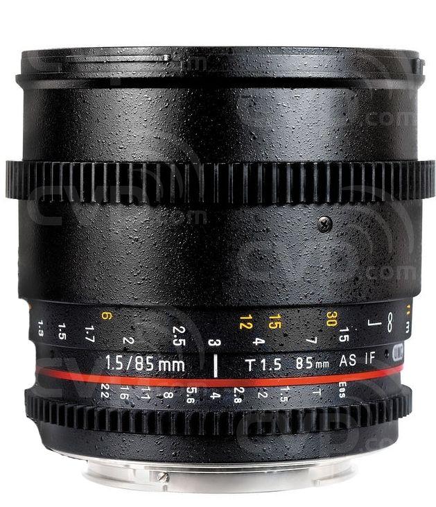 Samyang (7686) 85mm T1.5 VDSLR Lens - Canon fit