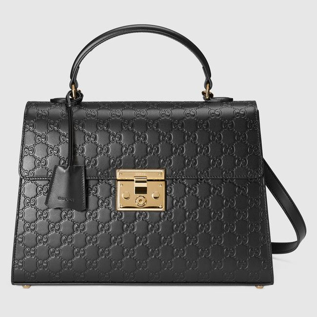 c0c2371d1f Padlock Gucci Signature top handle Sac Cuir Femme, Sac À Main, Folie, Sacs