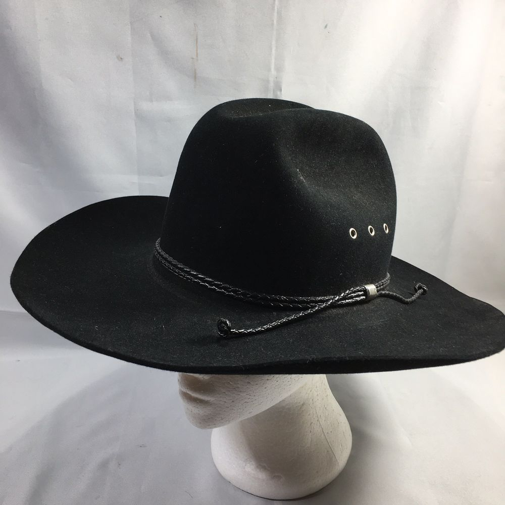 a75795d12ed6de Stetson K Tyler Black Cowboy Hat Size 7 Beaver Felt XXXX 4X Discontinued # Stetson #CowboyHat