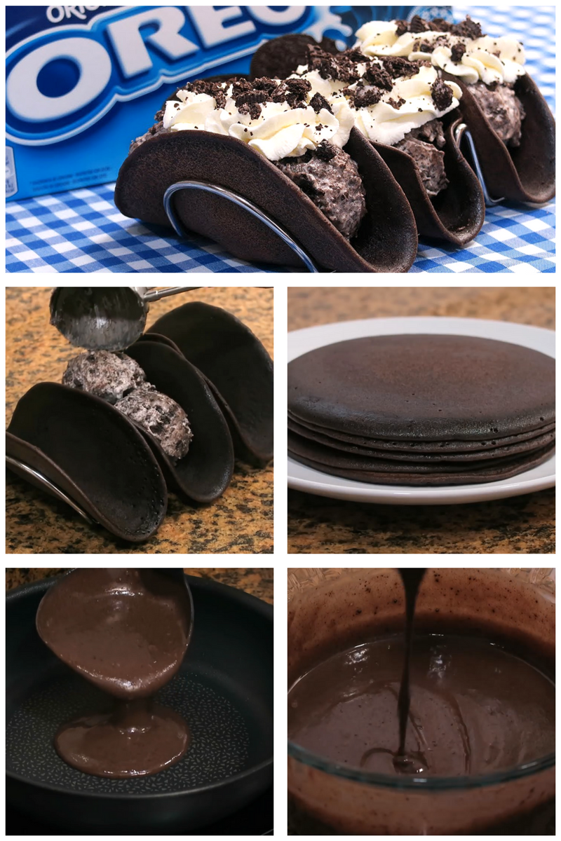 Aprende con este vídeo cómo hacer unos Tacos de Oreo muy fácil y ricos, sin Hornear. La receta de estos Tacos de Oreo está explicada paso a paso y de forma sencilla, para que os sea fácil hacerla. ¡Seguro que les saldrá deliciosa!