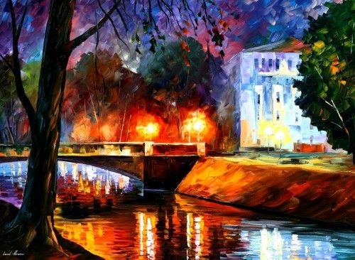 Memories Of The First Love St, Petersburg - Leonid Afremov