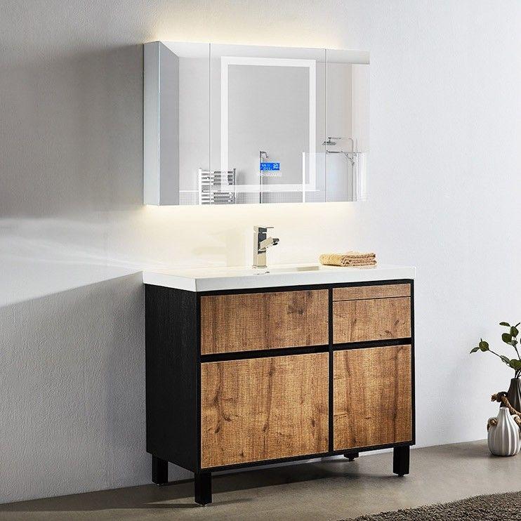36 Free Standing Bathroom Vanity With Sink Rustic Single Sink Vanity With Drawers Vanity Cabinet In 2020 Bathroom Sink Vanity Single Sink Vanity Bathroom Vanity