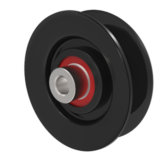 VGroove Idler Pulley 3'' Dia. 5/8'' Bore Steel
