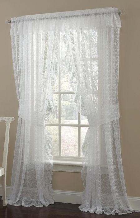 Priscilla Curtains Living Room Designs With Chocolate Brown Sofa Lace I Bought These For My And Dinning Love Them