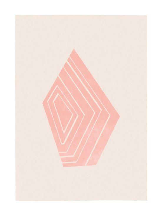 Geode I - in Rose Quartz Art Print #rosequartz #rosequartztrend #geometric #wall art #art #poster #artposter #decor