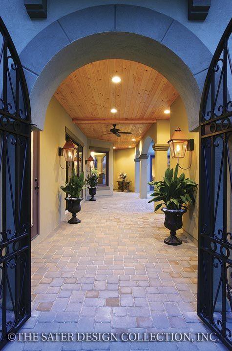 Ferretti House Plan Porticos Courtyard Entry And Dream