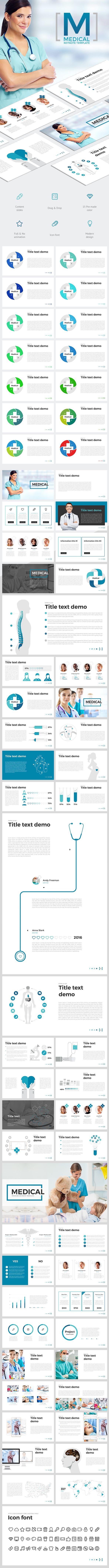 Medical Pinterest Keynote Presentation Templates And Template