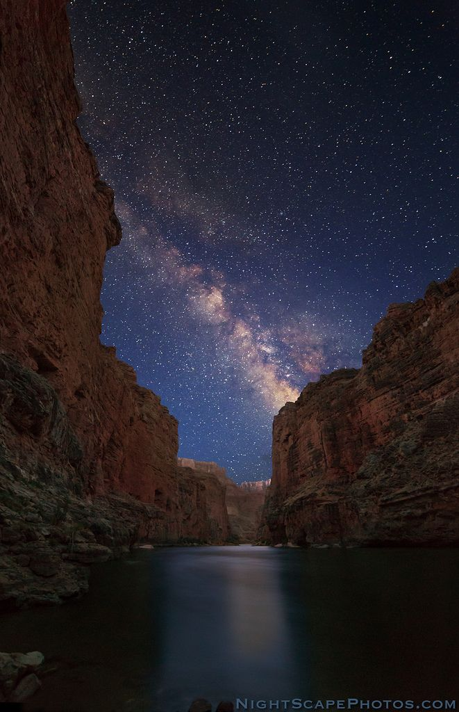 "Milky Way from the bottom of the Grand Canyon (by IronRodArt - Royce Bair (""Star Shooter""))"