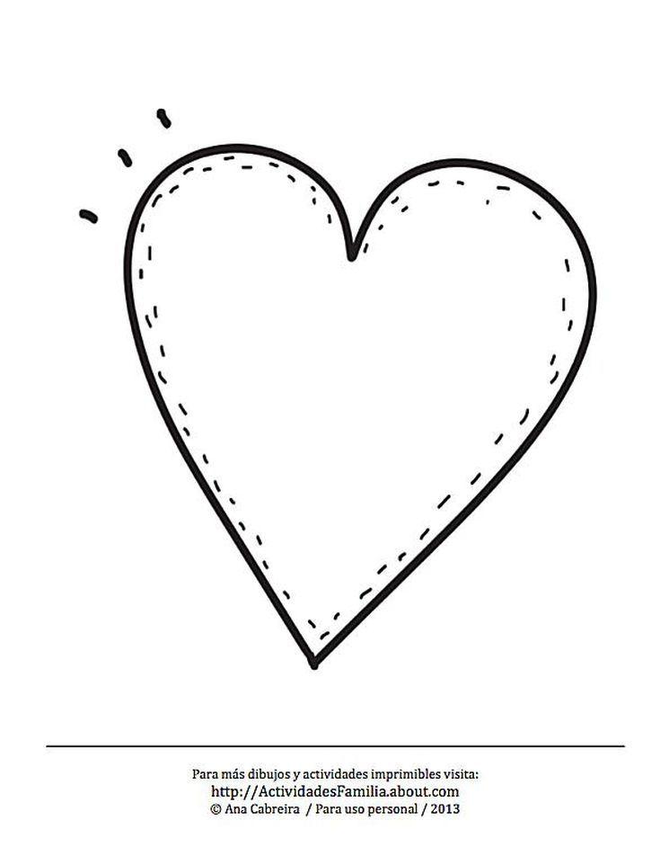 10 Dibujos de corazones para imprimir y colorear: Corazón simple ...