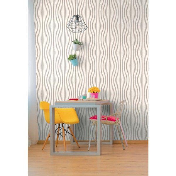 Pop Wave gris/taupe - Collection Pop Colors d\'AS Création | Taupe